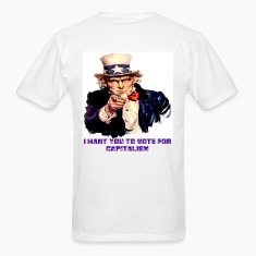 Uncle Sam Vote for Capitalism Back Print