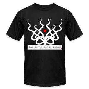 Men's Slim Fit AA Saving Myself for the Kraken light print tee - Men's Fine Jersey T-Shirt