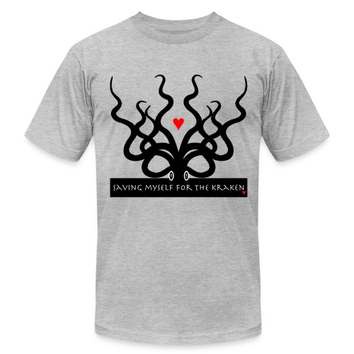 Men's Slim Fit AA Saving Myself for the Kraken tee dark print - Men's Fine Jersey T-Shirt
