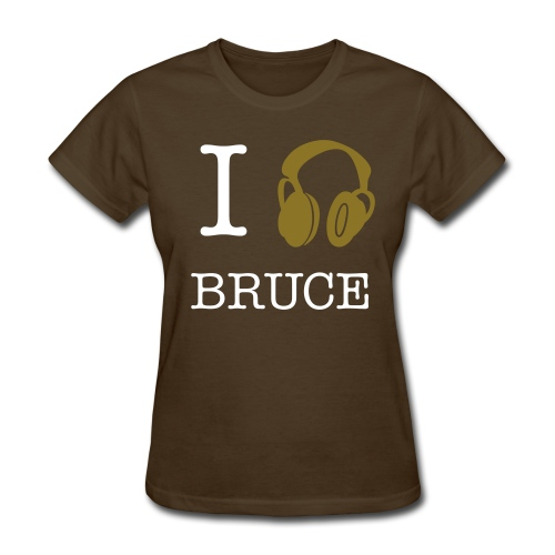 I Listen To Bruce Lady Tee Gold - Women's T-Shirt