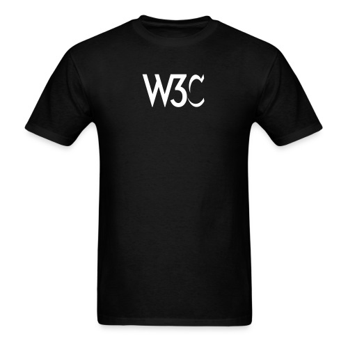 w3c_men_black_shirt - Men's T-Shirt