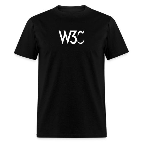w3c_men_black_shirt - Men's T-Shirt