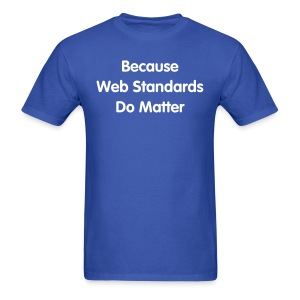 webstandards_men_blue_shirt - Men's T-Shirt
