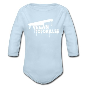Baby Long Sleeve - VEGAN TOFUKILLER! - Long Sleeve Baby Bodysuit