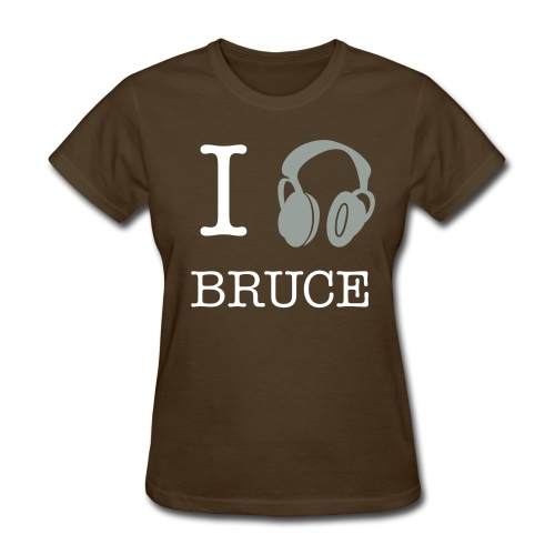 I Listen To Bruce Lady Tee Silver - Women's T-Shirt
