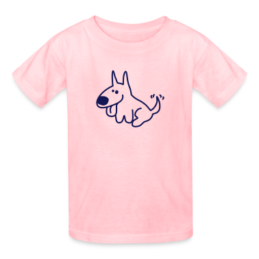Hot pink Mike Sit (Vector) Kids' Shirts