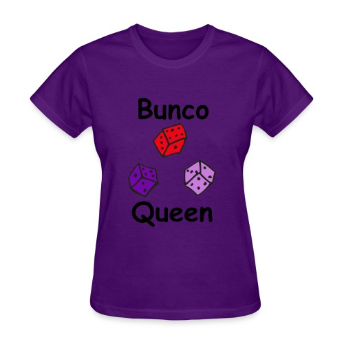 Bunco Queen 3 Dice Black Letters - Women's T-Shirt