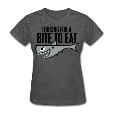 Deep heather Shark Shirt - Bite to Eat Women's T-Shirts