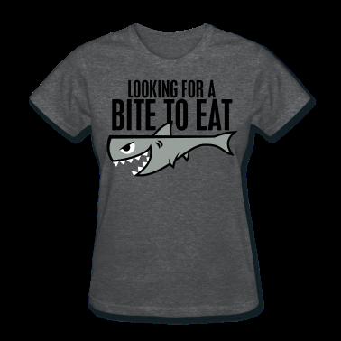 Deep heather Shark Shirt - Bite to Eat Women's T-Shirts