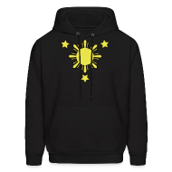 Hoodies ~ Men's Hoodie ~ Men's Hoodie with 3 Stars and Sun