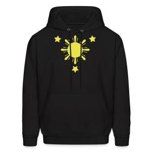 Men's Hoodie with 3 Stars and Sun - Men's Hoodie