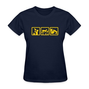 Navy alcohol v2 Women's T-Shirts - Women's T-Shirt