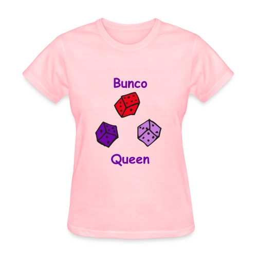 Bunco Queen Purple Letters - Women's T-Shirt