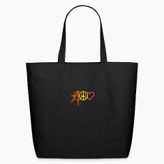 Black anarchy peace love (2c) Bags