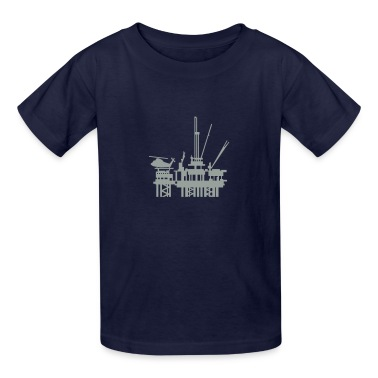 Navy offshore oil rig (1c) Kids' Shirts