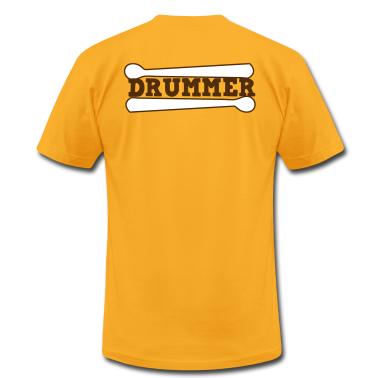 Gold drummer drums drum with drumsticks T-Shirts