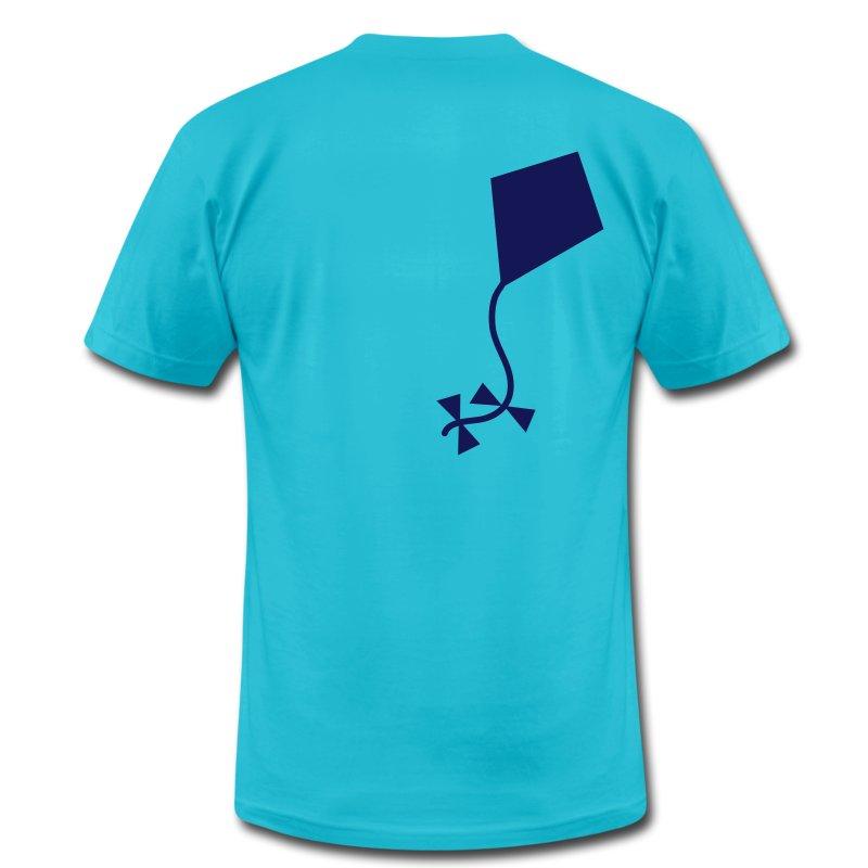 A one color kite t shirt spreadshirt for Aqua blue color t shirt