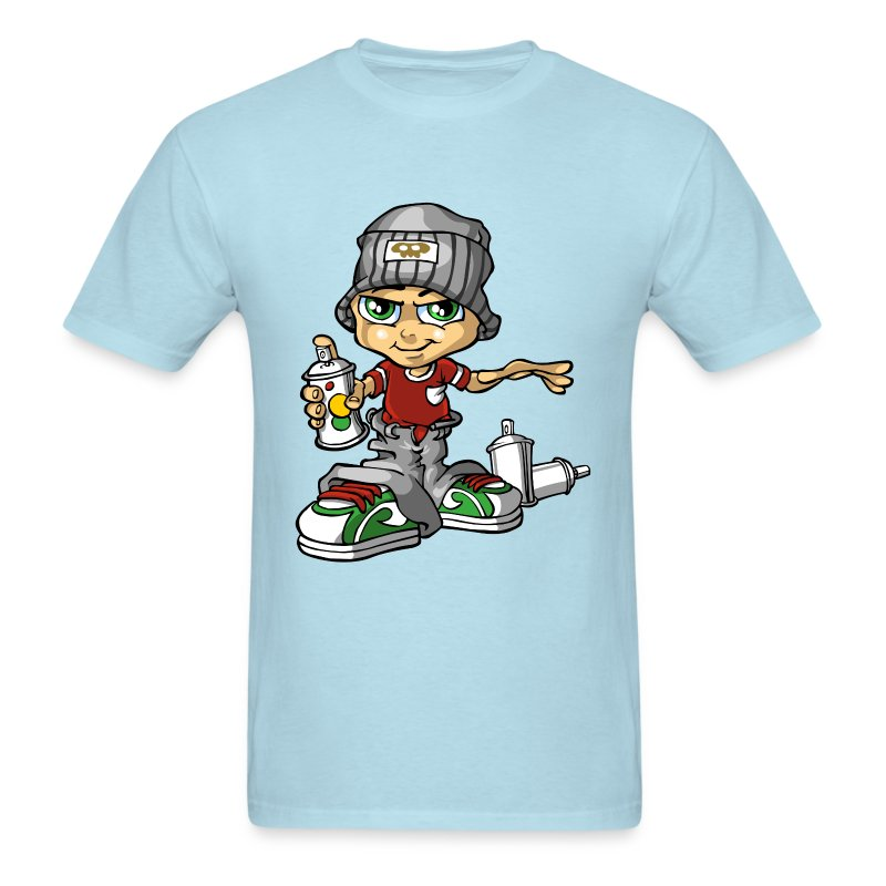 graffiti boy and paint spray t shirt spreadshirt. Black Bedroom Furniture Sets. Home Design Ideas