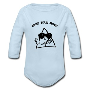 Sneables baby's one piece - Long Sleeve Baby Bodysuit