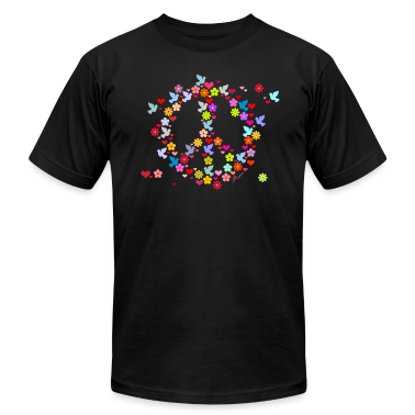 Black flower power peace (DDP) T-Shirts