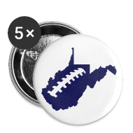 Buttons ~ Large Buttons ~ WV Football Button 5Pack