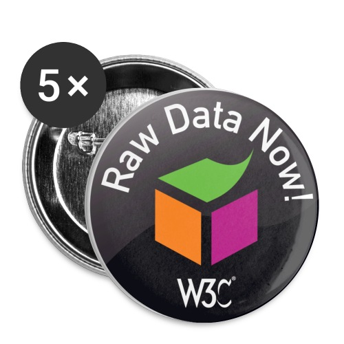 rawdata_black_badges - Buttons small 1'' (5-pack)