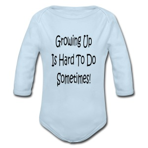 boys blue with logo - Long Sleeve Baby Bodysuit