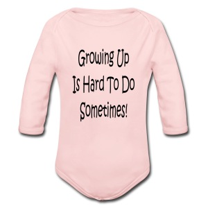 girls pink with logo - Long Sleeve Baby Bodysuit
