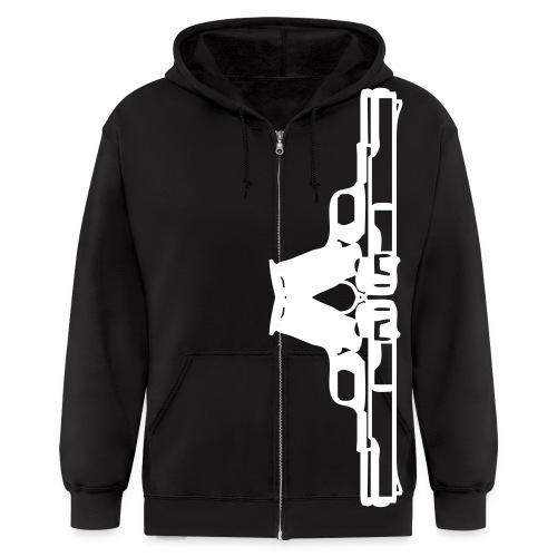 Viva La Revolución (Black zipper hood) - Men's Zip Hoodie