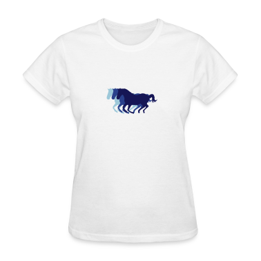 Three horses at a gallop - Horse riding - dressage horses riding horse race Women's T-Shirts