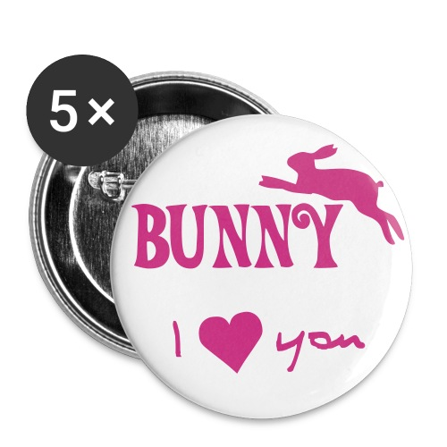 BUNNY I LOVE YOU - Large Buttons