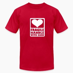 Orange Fragile Handle with care T-Shirts