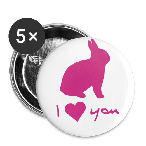 RABBIT I LOVE YOU - Large Buttons