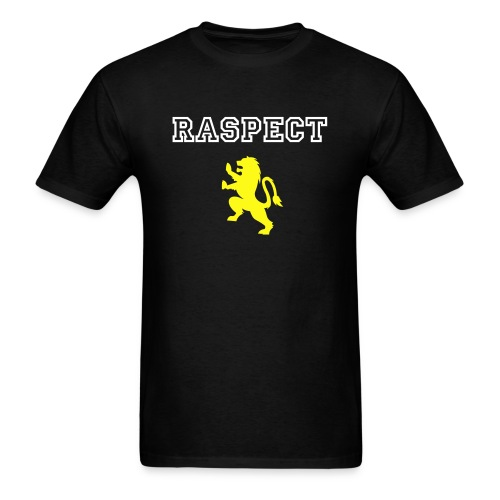 Tee Shirt men's  black with raspect and lion on the front cotton - Men's T-Shirt