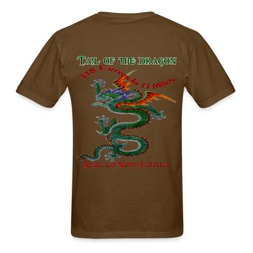 Tail of the dragon 4 back print 318 curves in 11 miles t for Miles t shirt shop
