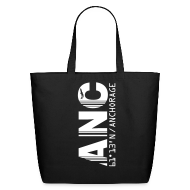 Bags & backpacks ~ Eco-Friendly Cotton Tote ~ Alaska airport code United States  ANC black tote / beach  bag