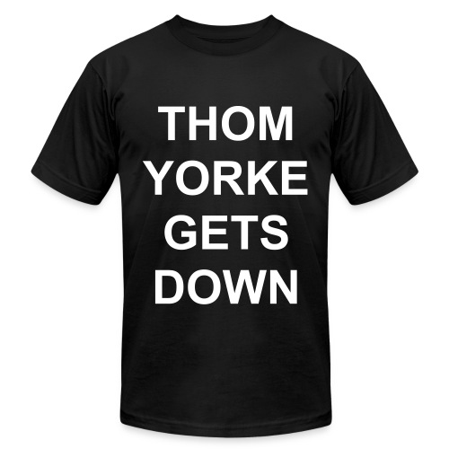 Thom Yorke Gets Down - Men's Fine Jersey T-Shirt