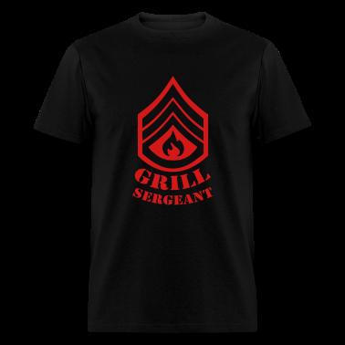 Black Grill Sergeant - BBQ T-Shirts