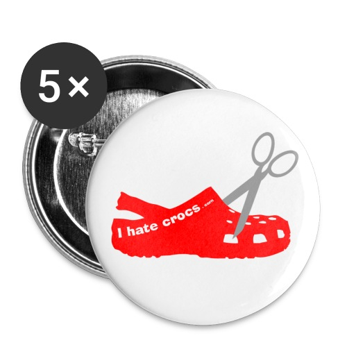 Big Scissor Croc Badges - Buttons large 2.2'' (5-pack)