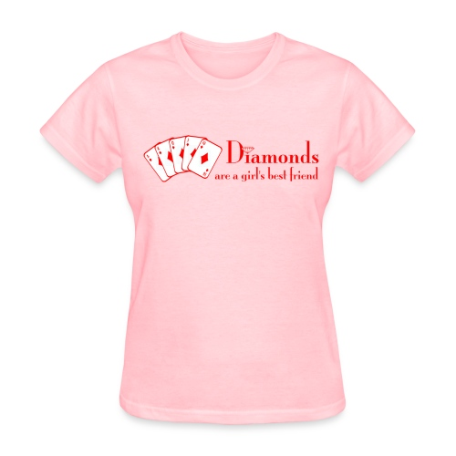 DIAMONDS ARE A GIRLS BEST - Women's T-Shirt