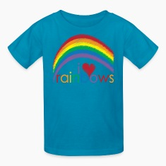 Classic pink i_love_rainbows Kids' Shirts