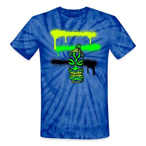 SPRAY TIKI STRIPES (P) - Unisex Tie Dye T-Shirt