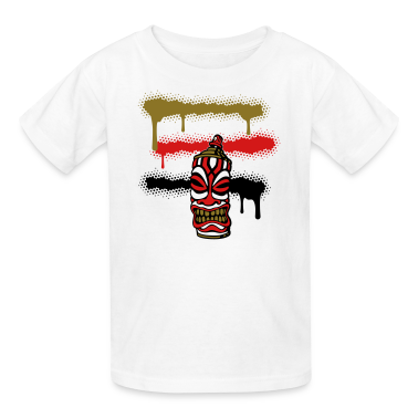 White SPRAY STRIPES TIKI (C3P US) Kids' Shirts