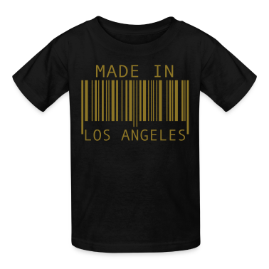 Black Made in Los Angeles Kids' Shirts