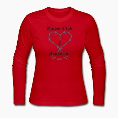 Red zipperclubsupporter Long Sleeve Shirts