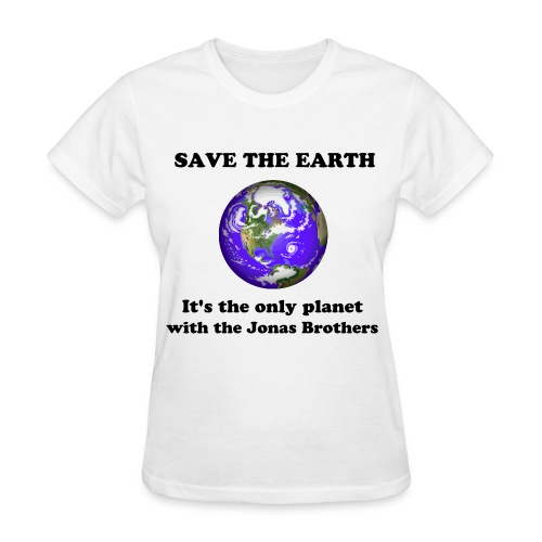 Save the earth, Jonas Brothers - Women's T-Shirt