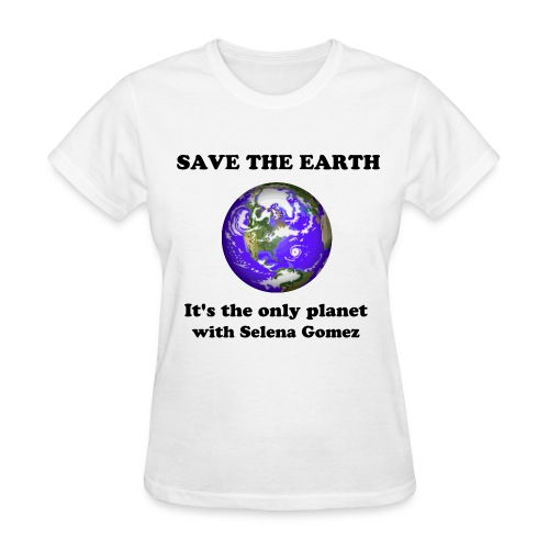 Save the earth, Selena Gomez - Women's T-Shirt