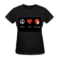 T-Shirts ~ Women's T-Shirt ~ Peace, Love, Twilight Tee