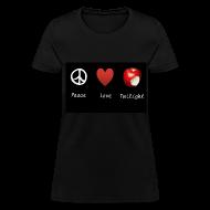 T-Shirts ~ Women's T-Shirt ~ Peace, Love, Twilight Tee