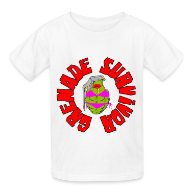 White Grenade Survivor Kids' Shirts